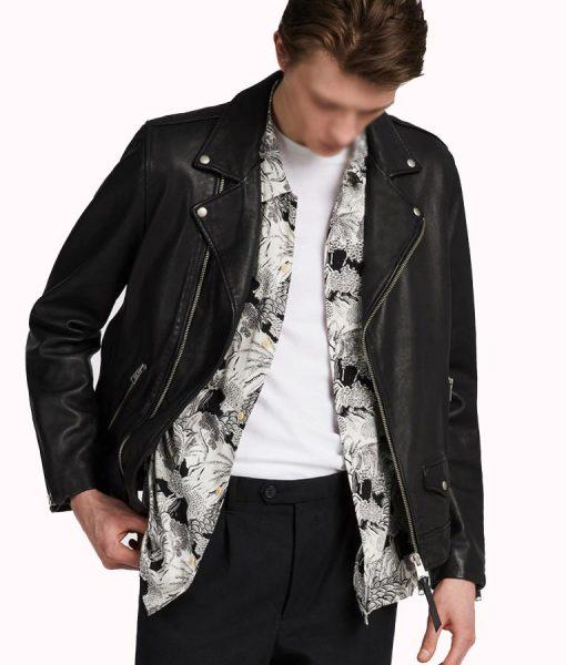 William Lambskin Leather Motorcycle Jacket