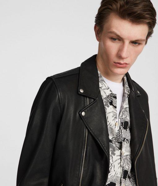 William Asymmeterical Moto Black Lambskin Leather Jacket