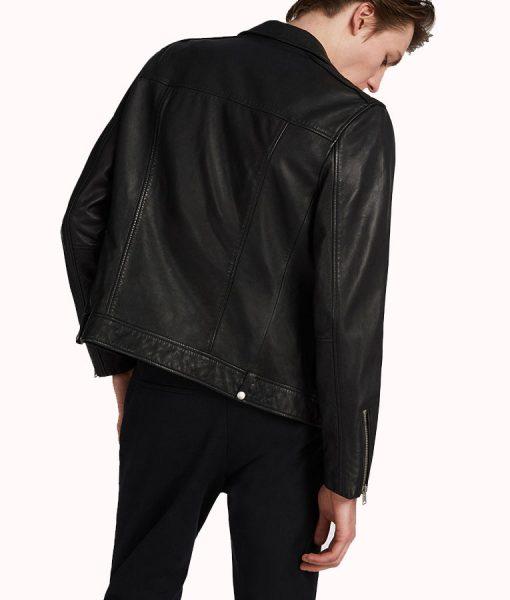William Black lambskin Leather Ticket Pocket Jacket