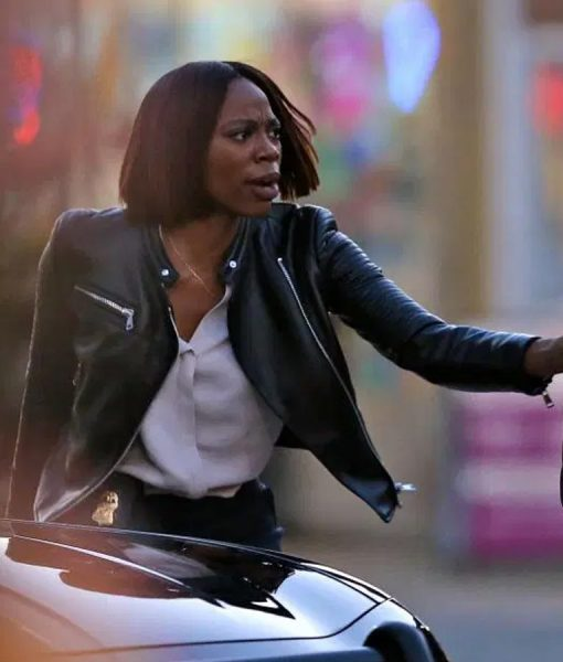 Yvonne Orji Spontaneous Cafe Racer jacket