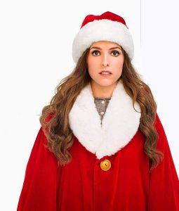 Anna kendrick Red Shearling Coat