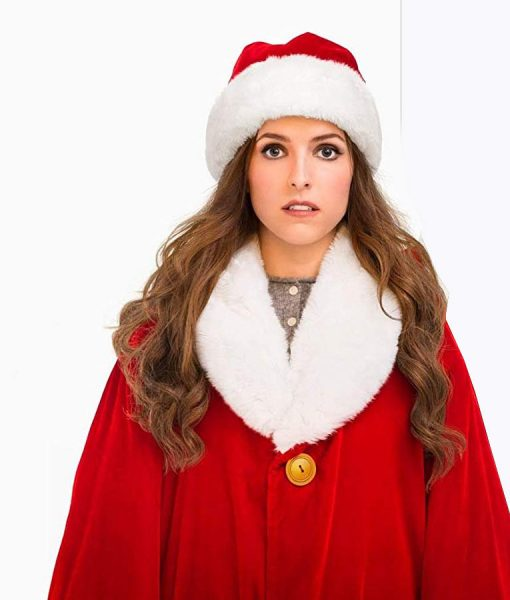Anna Kendrick Red Noelle Shearling Coat