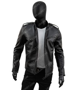 Jon Seda Chicafo P.D Black Leather Jacket