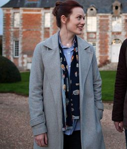 Maggie Around the Sun TV Series Cara Theobold Grey Wool Coat