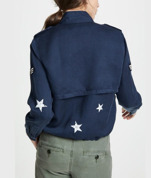 Blue Army Batwoman Kate Kane Army Jacket