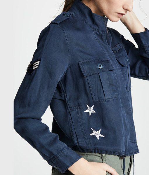 Batwoman Blue Army Jacket