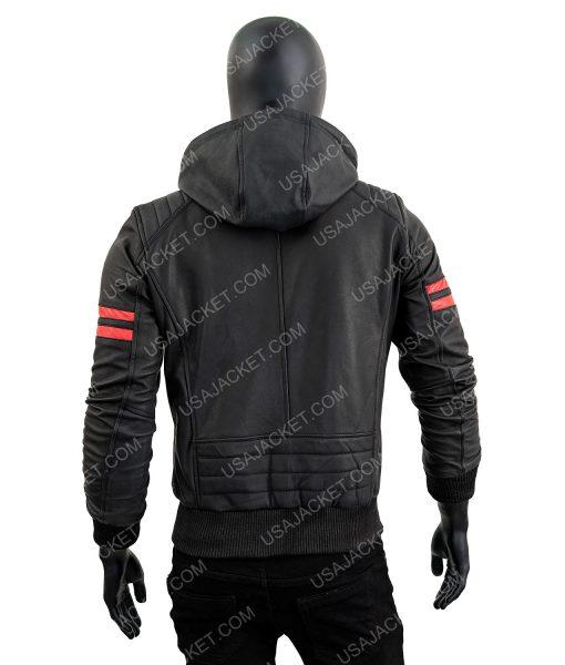 Shepherd Retro Black Leather Jacket