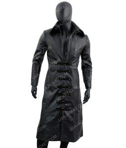 Mens Leather Long Coat
