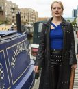 Cara Theobold Jo Zomboat Leather Coat