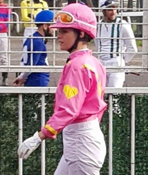Kristen Stewart Pink Satin Jacket