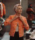 Charlie's Angels Sabina Wilson Neon Denim Jacket