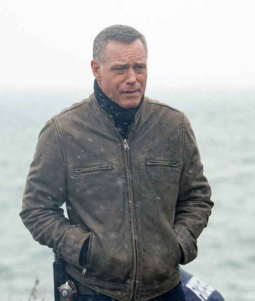 Chicago P.D. S07 Hank Voight Brown Leather Jacket