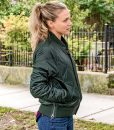 Chicago P.D. Tracy Spiridakos Hailey Upton Quilted Jacket