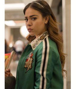 Green Danna Paola Varsity Jacket