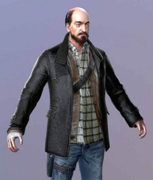 Dead Rising 4 Black Leather Coat