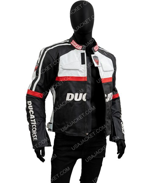 Ducati Corse Motorcycle Leather Jacket
