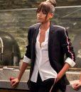 Ella Balinska Charlie's Angels Jane Kano Black Striped Blazer Jacket