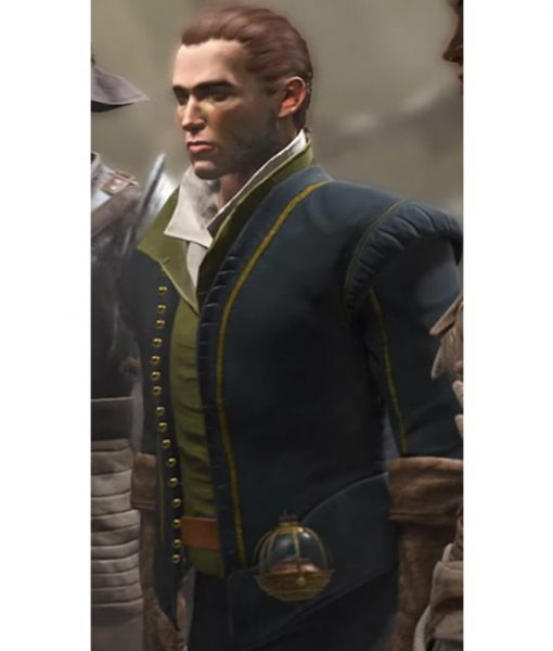 Greedfall Vasco Cotton Jacket With Puffer Shoulders