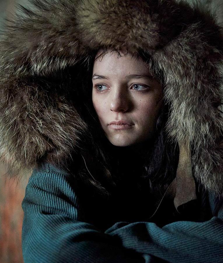 Hanna Blue Corduroy Coat