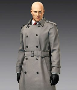 Agent 47 Grey Trench Coat