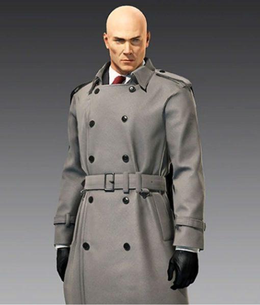 Hitman 2 Grey Double Breasted Coat