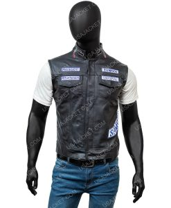 Son Of Anarchy Black Leather Vest
