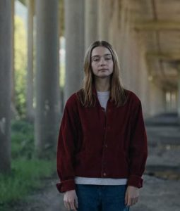 Jessica barden The End Of The Fucking Maroon Jacket