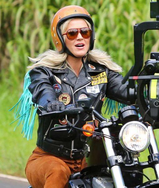 Katy Perry Harleys In Hawaii Black Leather Jacket