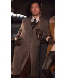 The Gentlemen Mickey Pearson Grey Wool Coat