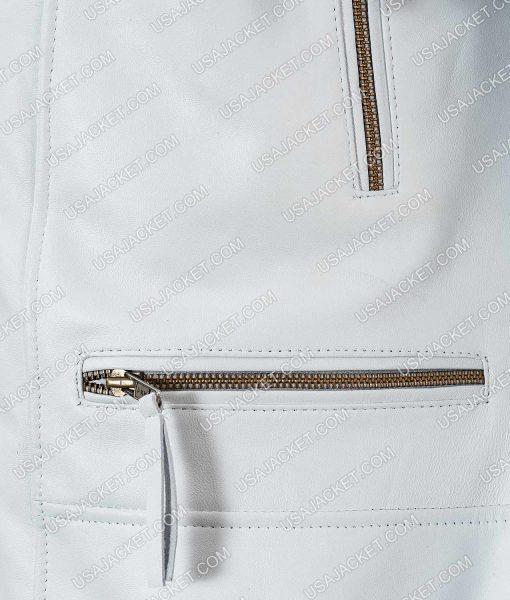 White Asymmetrical Jacket