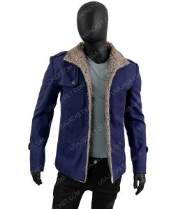 Mens Single Breasted Wool Jacket