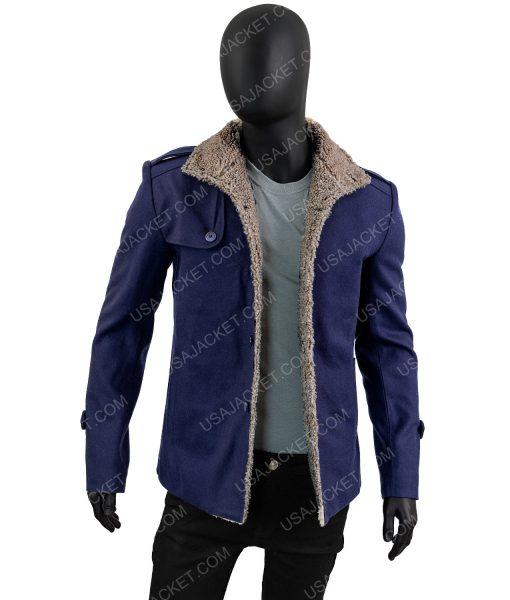 Mens Blue Wool Jacket