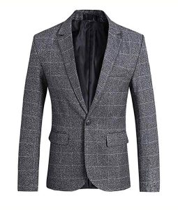 Grey Slimfit Blazer