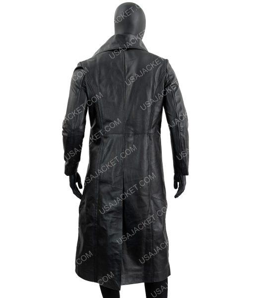 Mens Black Leather Coat