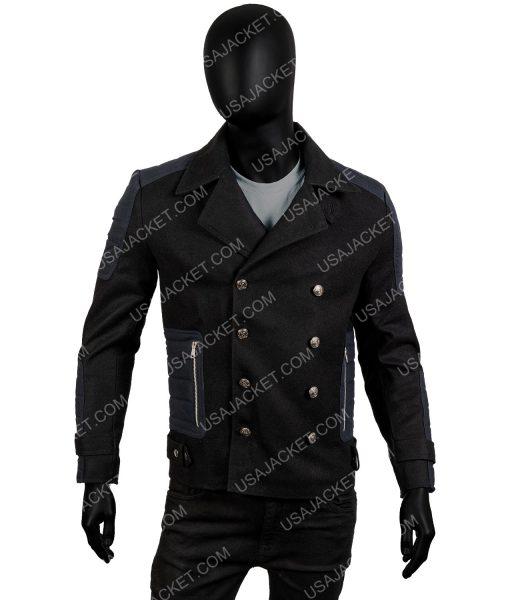 Men's Slim-Fit Winter Warm Black Short Coat