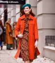 Modern Love lexi Orange Trench Coat