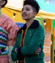 Green Ola Nyman Shearling Jacket