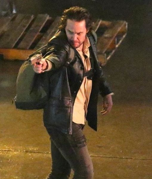 Black Leather Taylor Kitsch Jacket