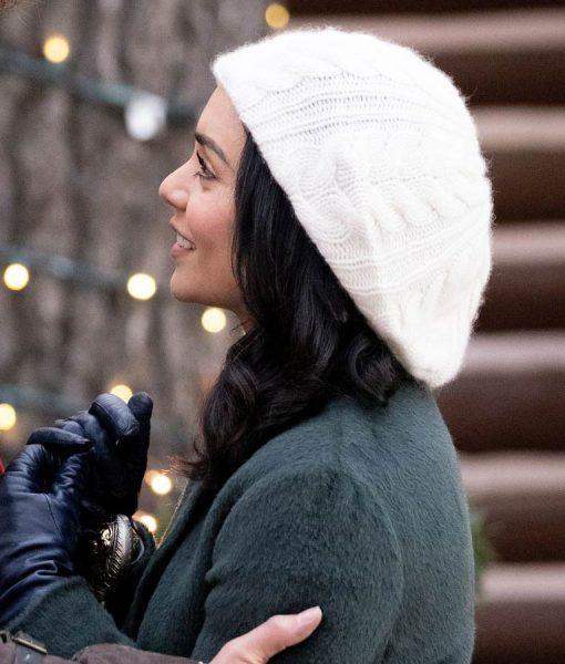 Vanessa Hudgens The Knight Before Christmas Shearling Coat