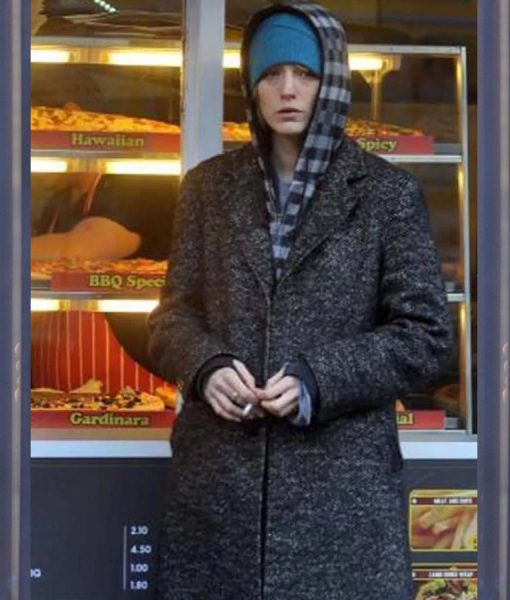 The Rhythm Section Blake Lively Grey Tweed Coat