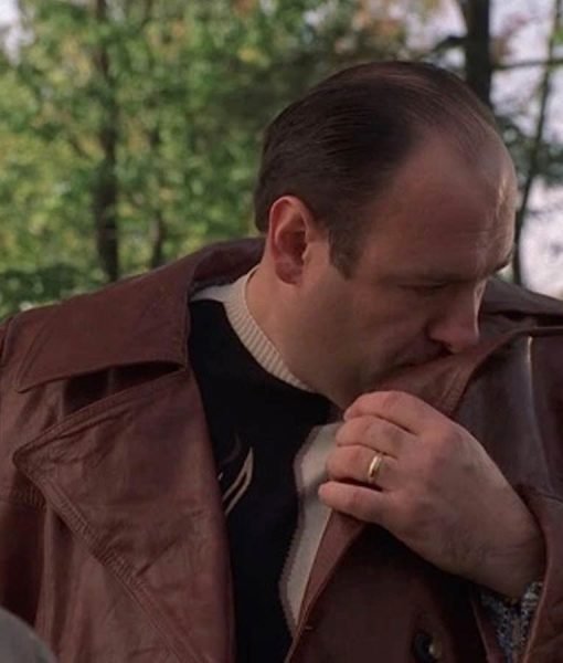 The-Sopranos Tony Brown Coat