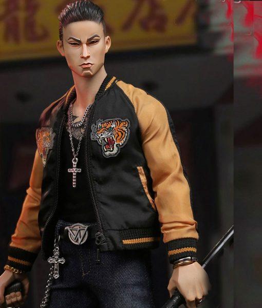 Video game Gangster Kingdom Leather Varsity Jacket