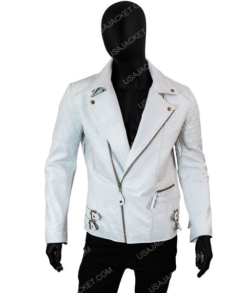 White Asymmetrical Jacket