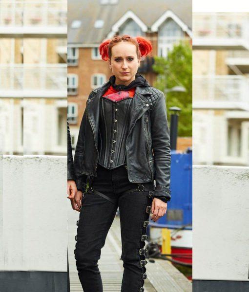 Zomboat kat Black Biker Jacket
