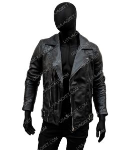 Aaron Paul Black Leather Quilted Jacket