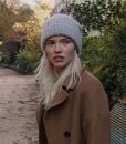 Sasha Luss Brown Wool Blend Trench Coat