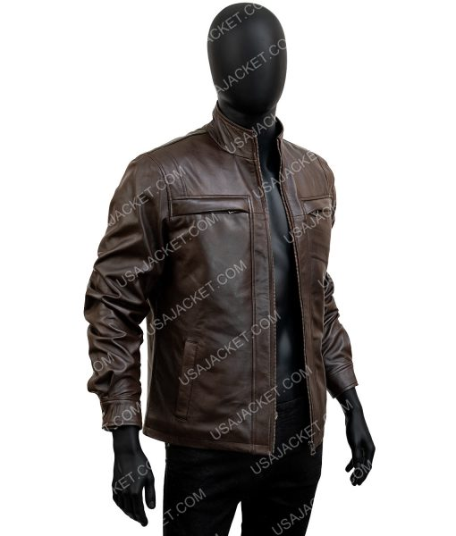 John Diggle Arrow S04 Brown Leather Jacket