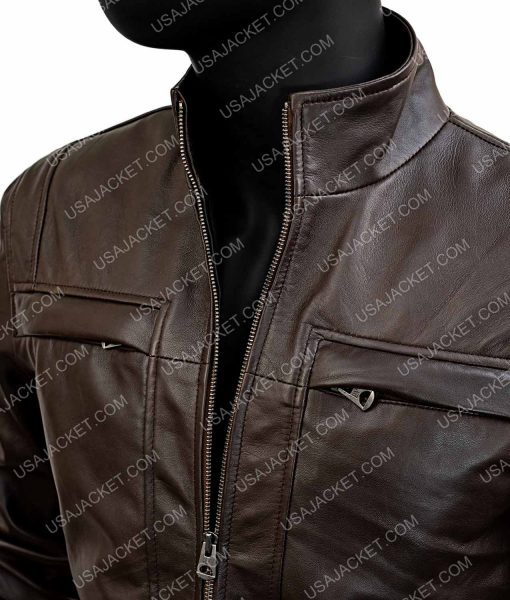 Arrow Season 4 Brown Leather John Diggle Jacket