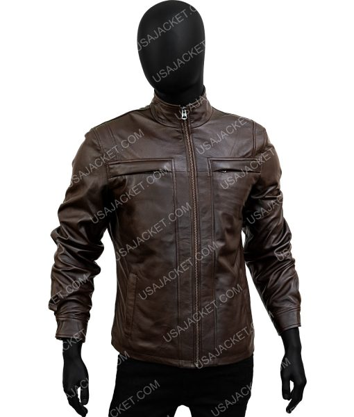Arrow Season 4 David Ramsey Brown Leather Jacket