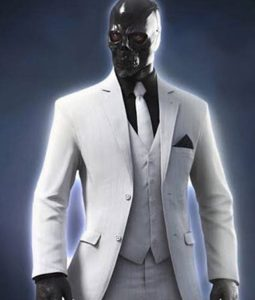 Birds of Prey Black Mask White Blazer Coat